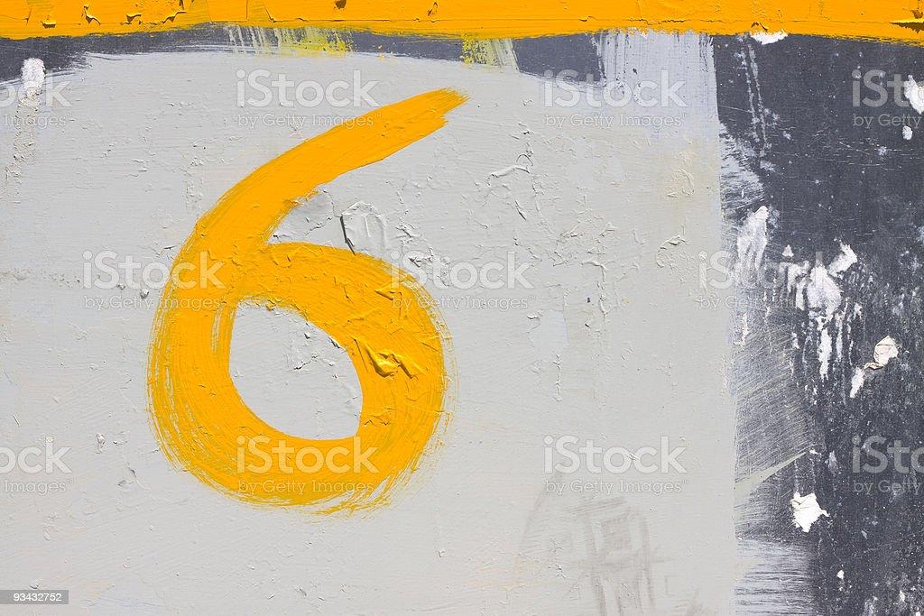 Zahl 6 Lizenzfreies stock-foto