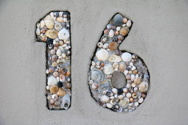 number sixteen - number 16 stock photos and pictures