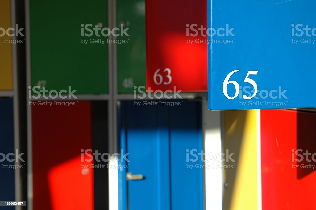 Number sixty five stock photo