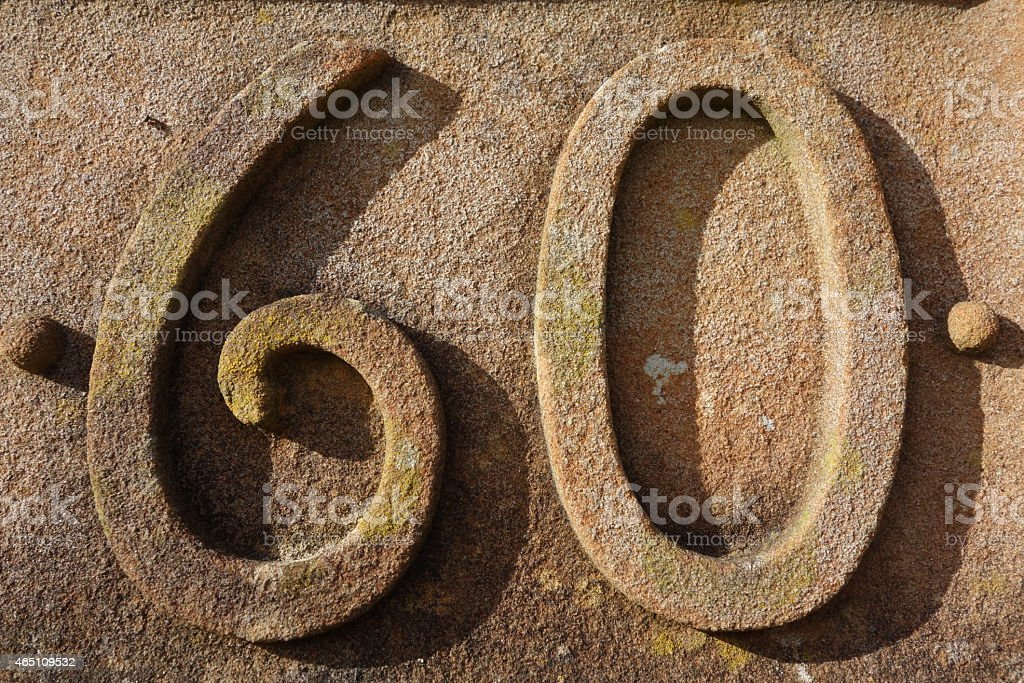 Number Sixty stock photo