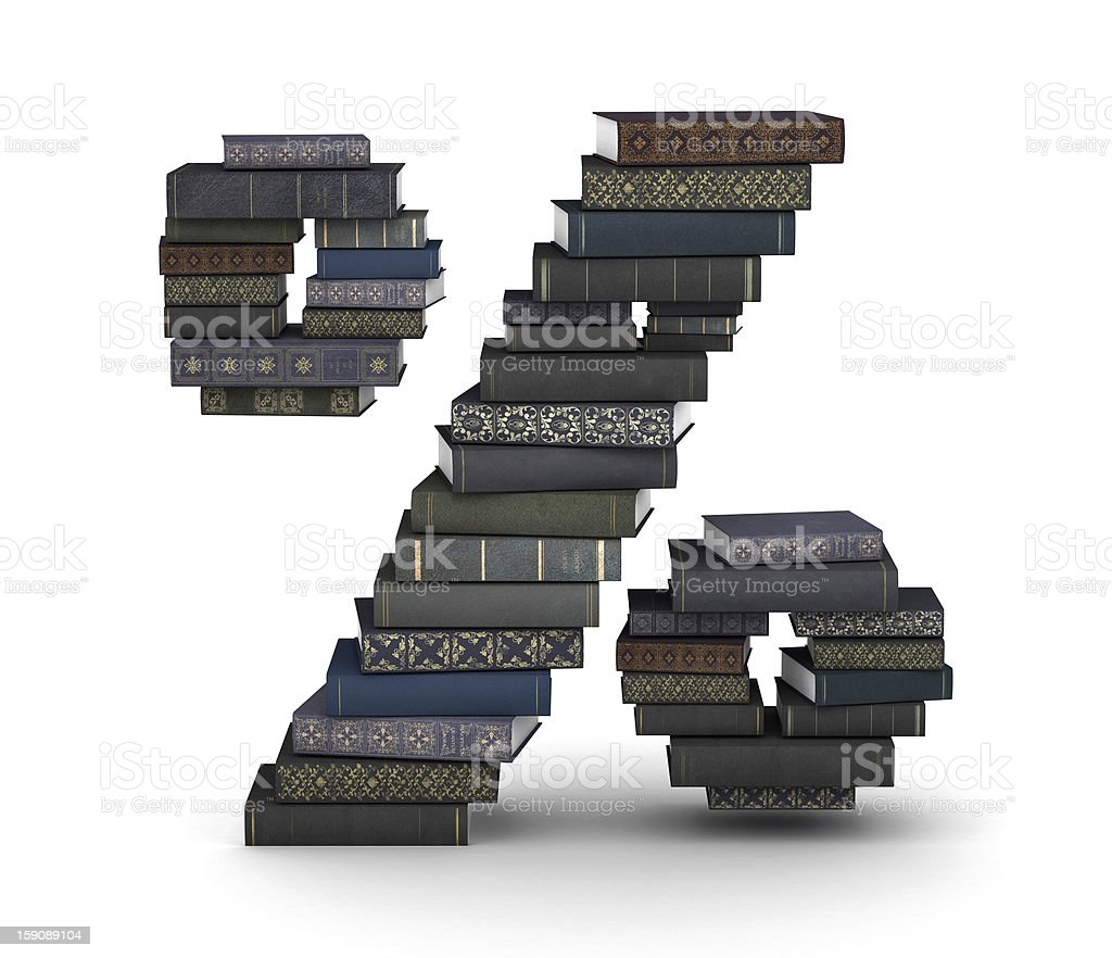 Number , stack of books royalty-free stock photo