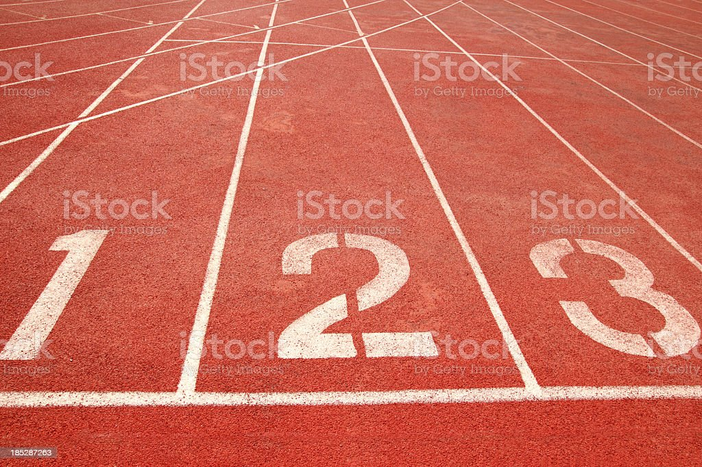Number Starting Line royalty-free stock photo