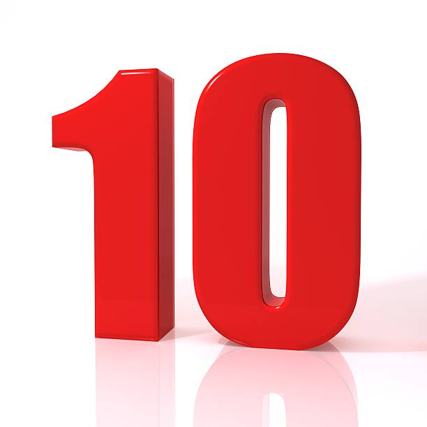 number ten - number 10 stock photos and pictures