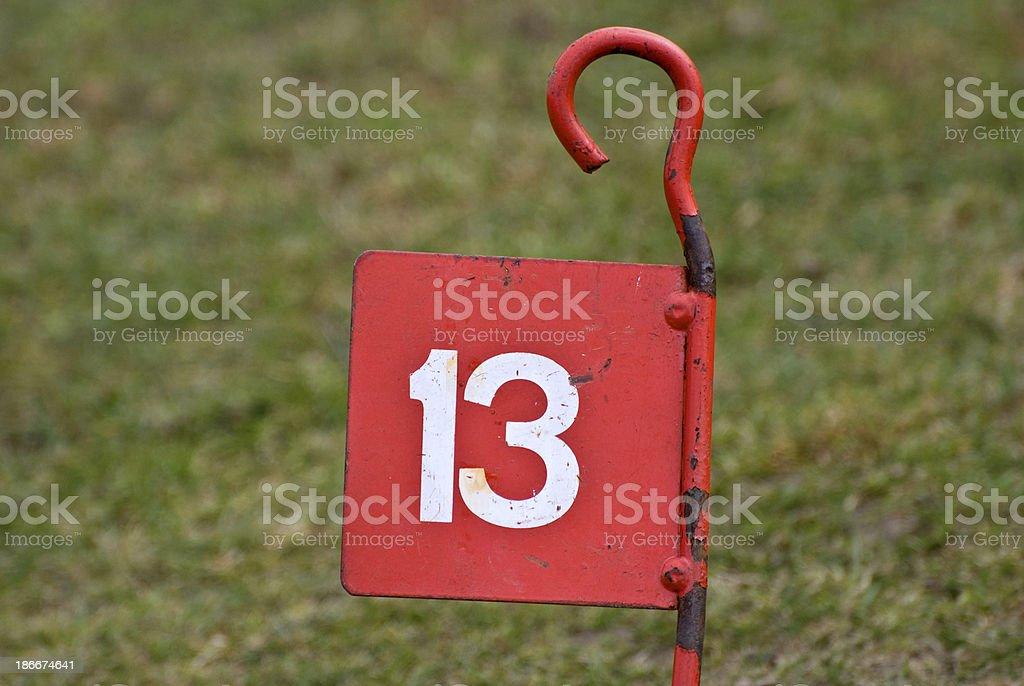 number thirteen royalty-free stock photo