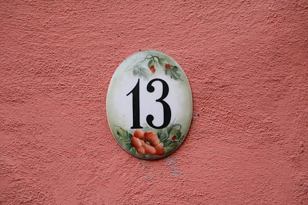 Number thirteen stock photo
