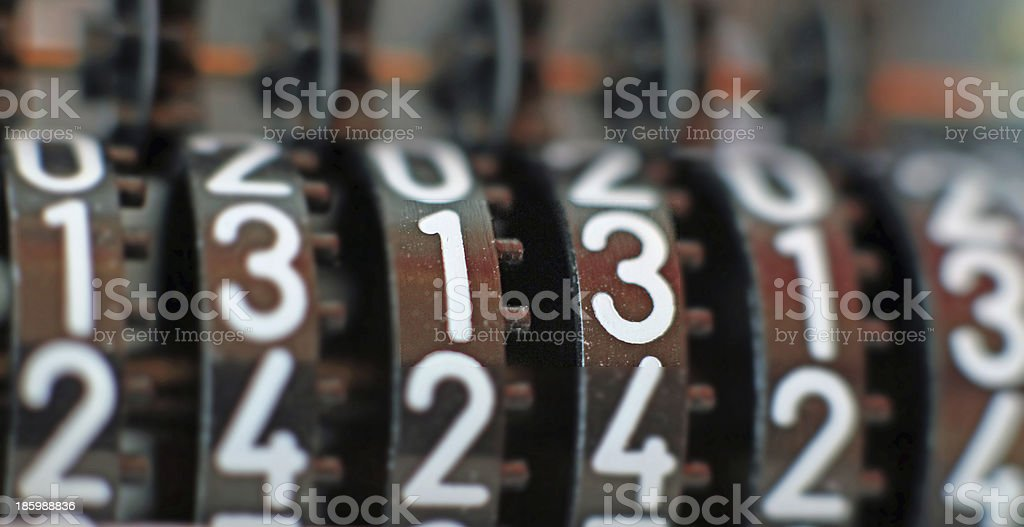 number thirteen that always brings much luck royalty-free stock photo