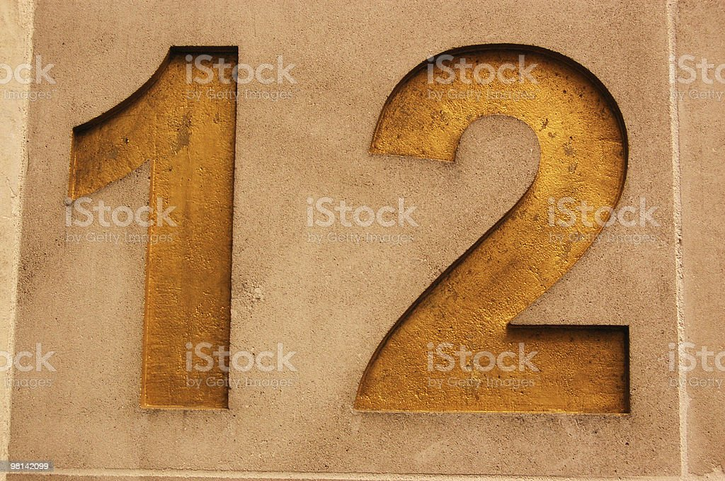 Number twelve royalty-free stock photo