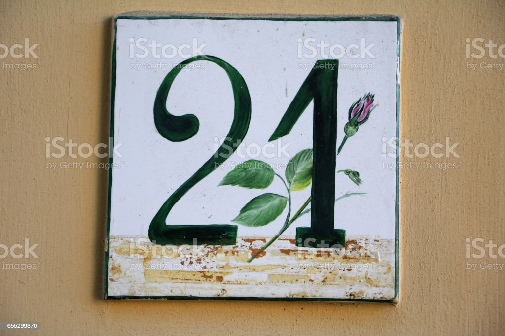 number twenty one – Foto
