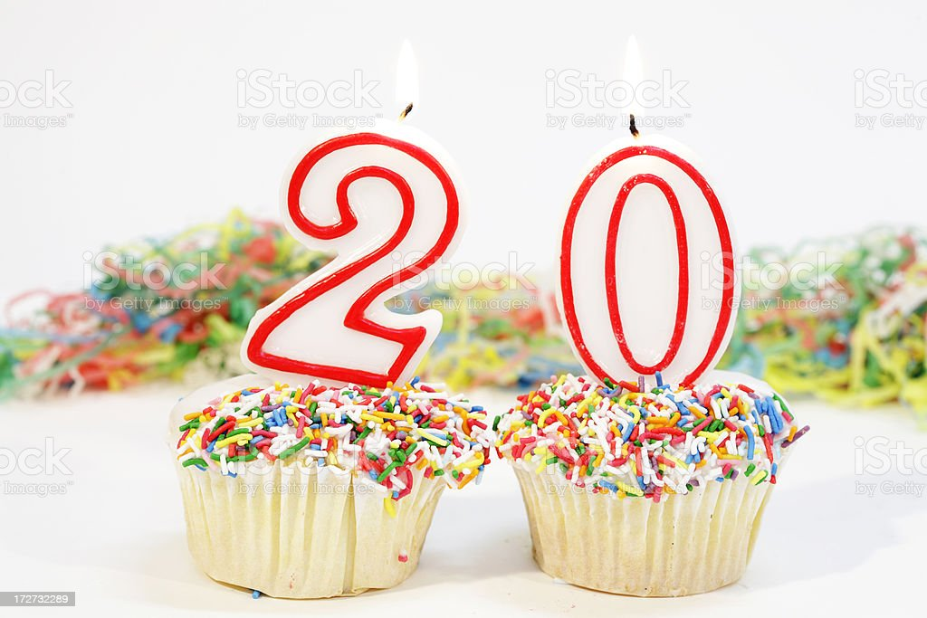 Number Twenty Party Cake royalty-free stock photo