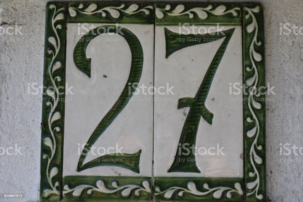 number twenty seven stock photo