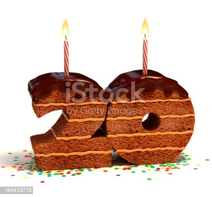 istock number twenty shaped chocolate cake 154413775
