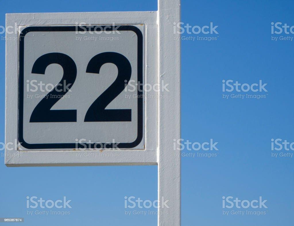 Number twenty two royalty-free stock photo