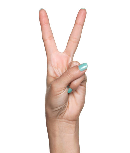 Number Two, Peace stock photo