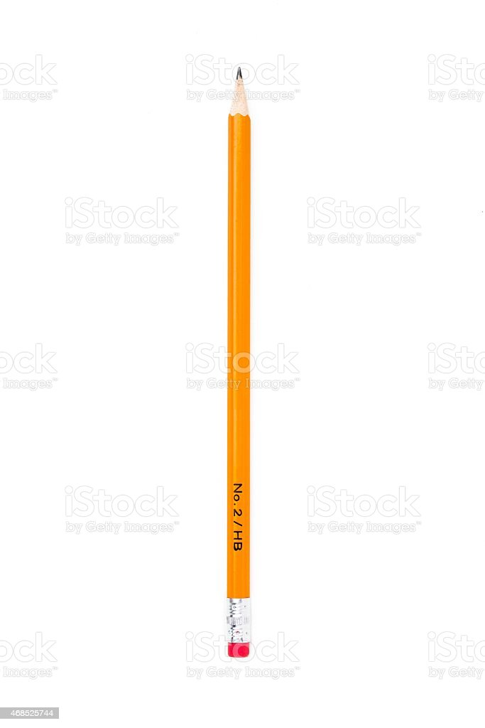 number two pencil over white background stock photo