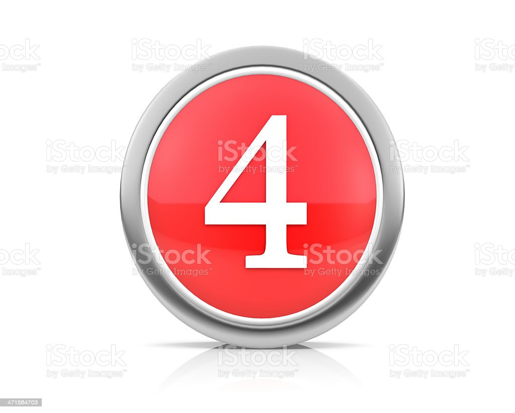 number4 royalty-free stock photo