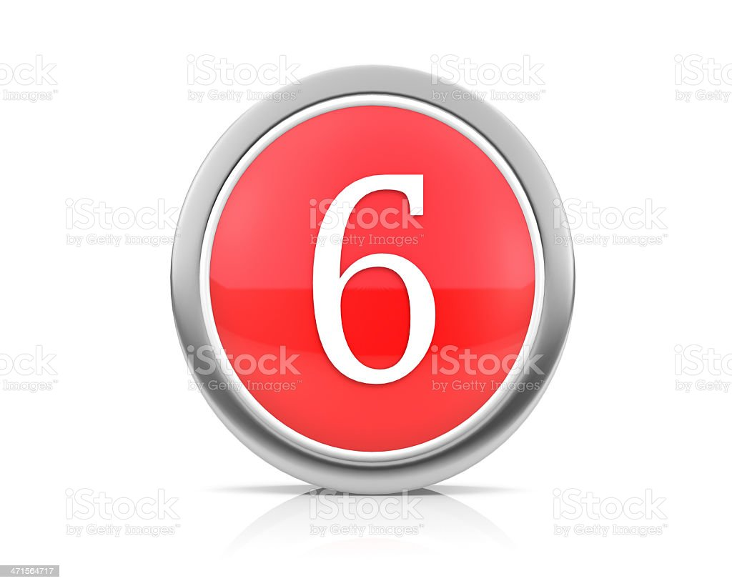 number6 royalty-free stock photo