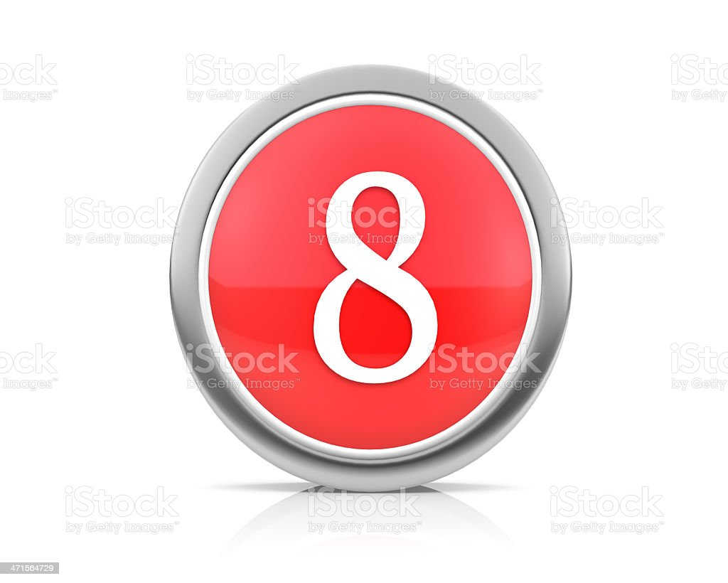 number8 royalty-free stock photo