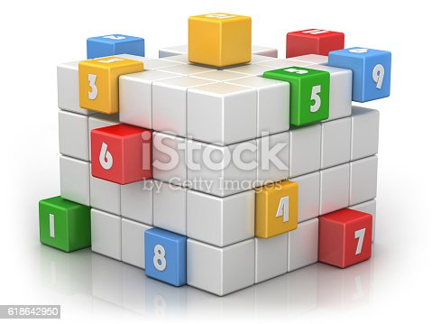 istock Numbered Cubes - Business Teamwork 618642950