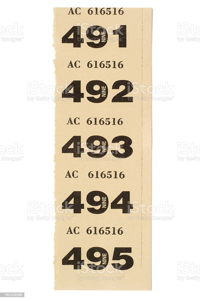 5 numbered raffle tickets stock photo more pictures of chance istock