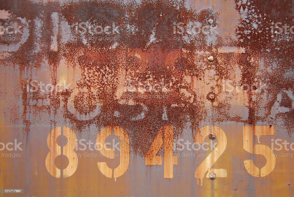 Numbered Rust royalty-free stock photo