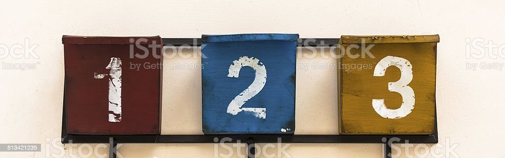 numbers 1 2 3 stock photo