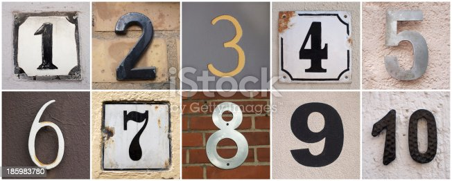 istock numbers 1 to 10 185983780