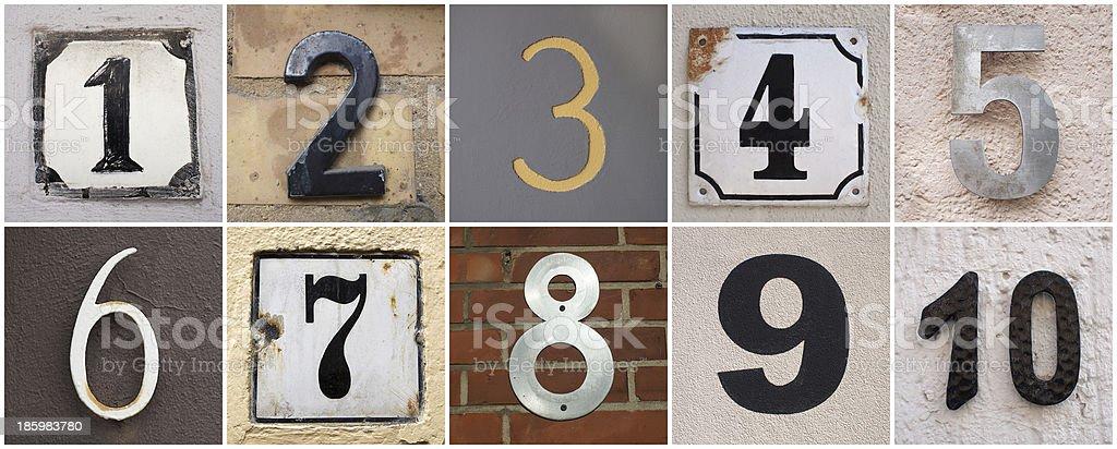 Zahlen 1 bis 10 – Foto