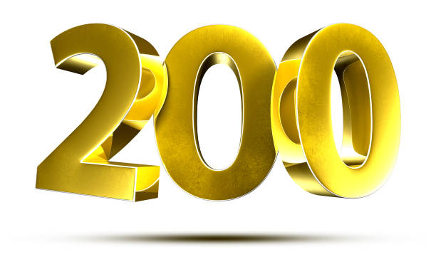 Numbers 200 3d. stock photo