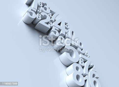 istock Numbers 3d background 1195937359