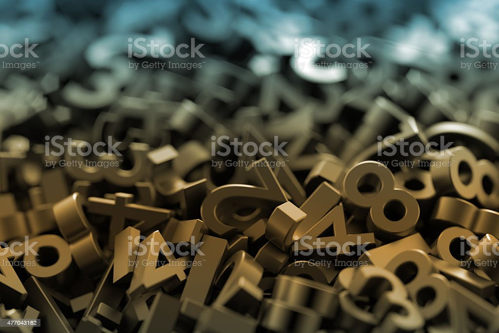 Numbers background stock photo