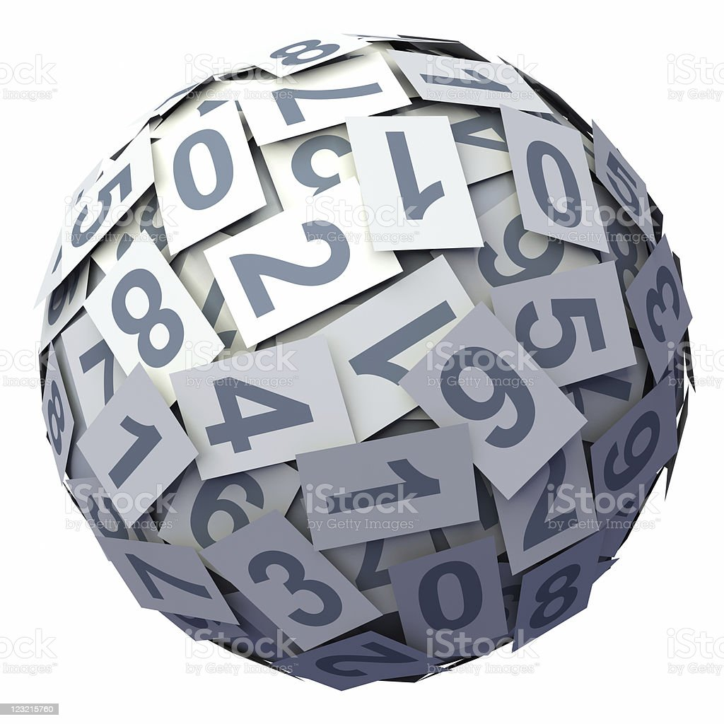 Numbers ball royalty-free stock photo
