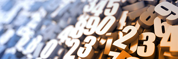 Numbers close up stock photo