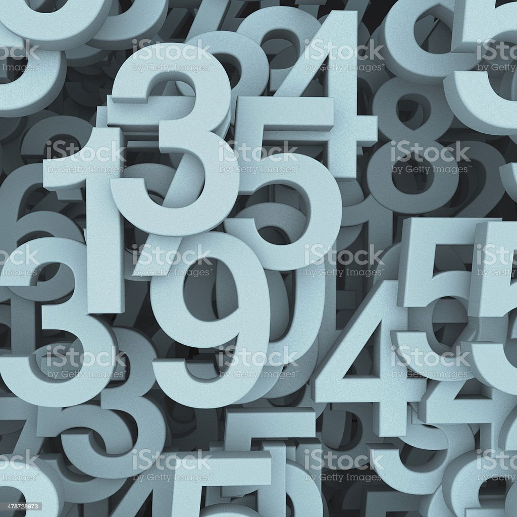 Numbers concept stock photo