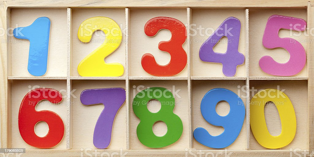 Numbers in a box royalty-free stock photo