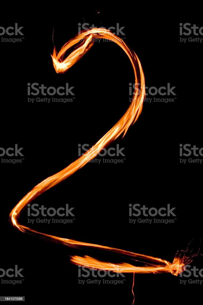 Numbers in flames 2 royalty-free stock photo