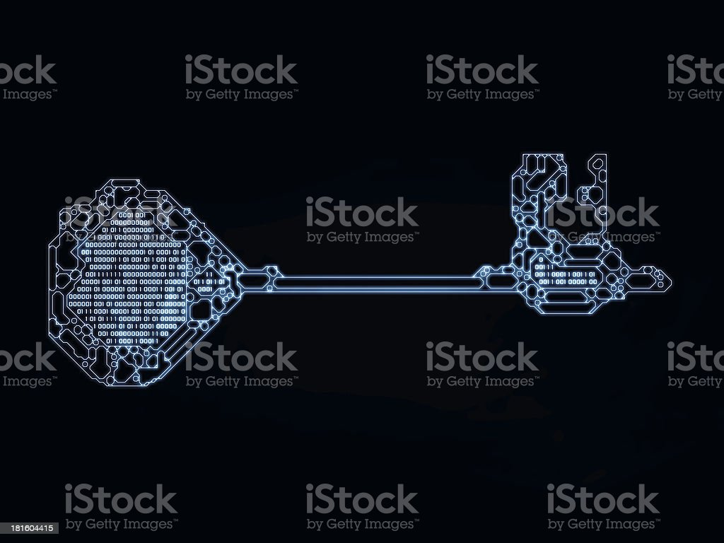 Numbers of Key Code royalty-free stock photo