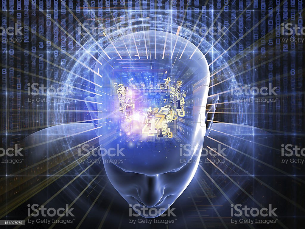 Numbers of the Mind stock photo