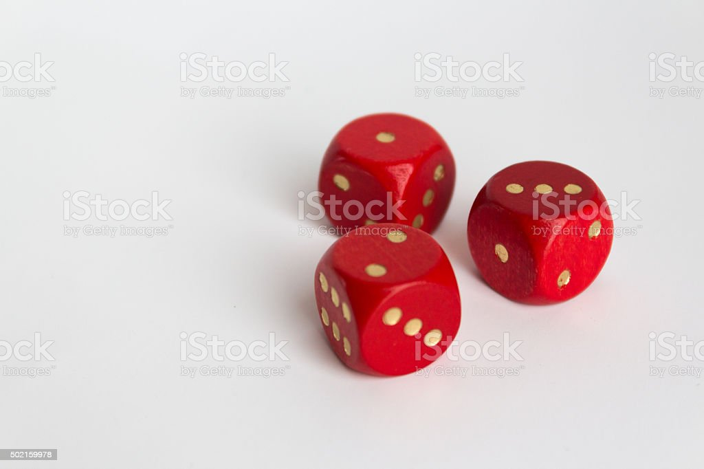 1,2,3 numbers on  dices on white stock photo