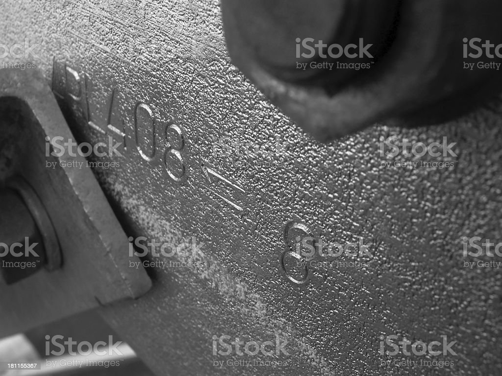 Numbers on metal royalty-free stock photo