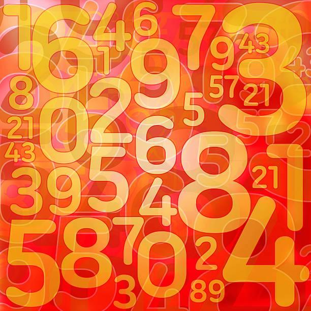 Numery na czerwonym tle – zdjęcie