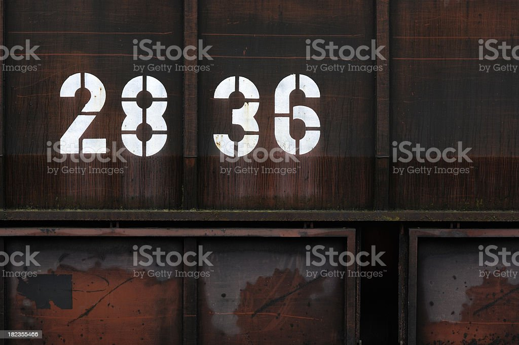 Numbers on rusty iron royalty-free stock photo