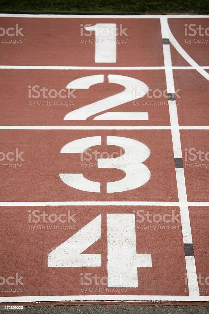 Numbers on the track royalty-free stock photo