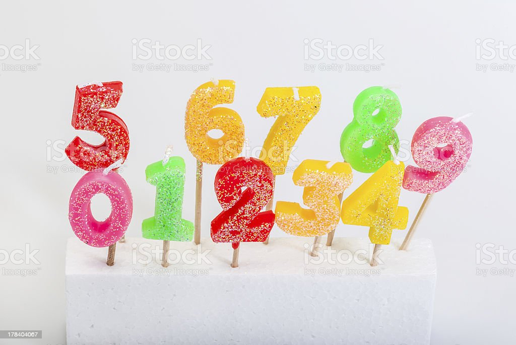 numbers (candle) royalty-free stock photo