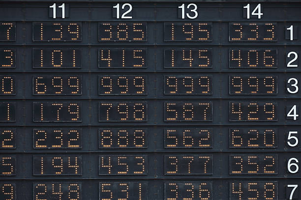 Numbers Odds display for gambling. sha tin stock pictures, royalty-free photos & images