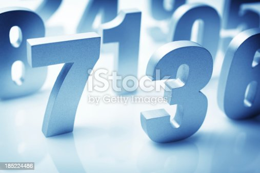 Numbers block standing on surface randomly.Similar images -