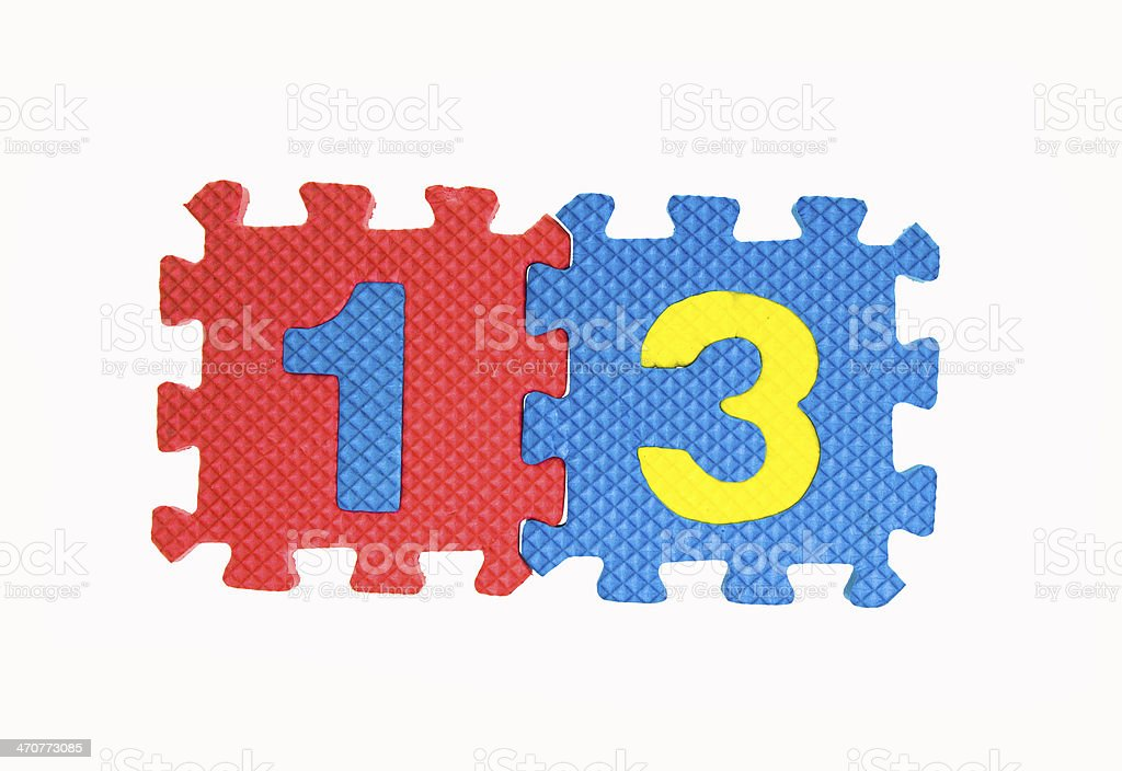 13 numbers stock photo