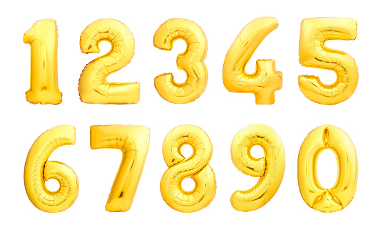 istock Numbers set made of inflatable balloons 867557092