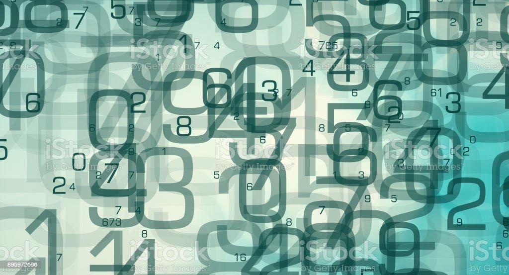 Numbers tech symbol, data scientist job royalty-free stock photo