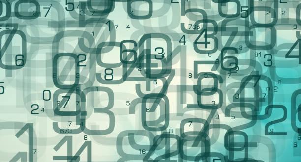 Numbers tech symbol, data scientist job stock photo