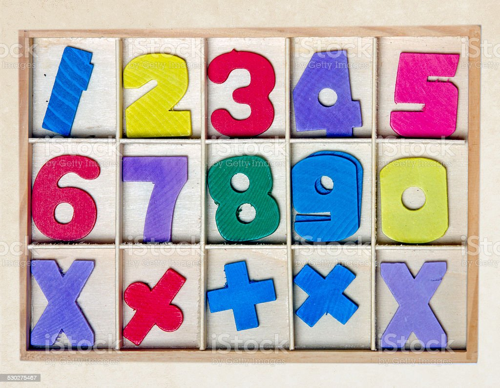 numbers toy stock photo